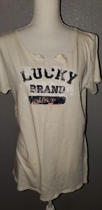 Lucky Brand tee.  Off white.  Size XL